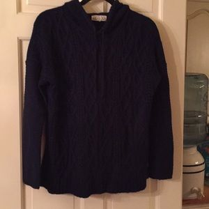 Sweaters - Navy blue hoodie sweater junior size large